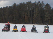 Snow mobiling on Lowell Lake
