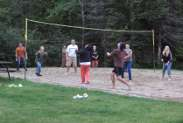 Playing Volleyball at Lowell Lake Lodge